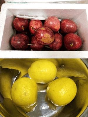 百香果和柠檬
